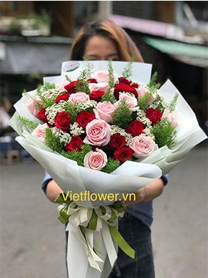 bó hoa hồng 79