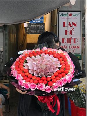 Hoa tiền dâu tây - TD2