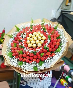 Bó hoa socola dâu tây SCL031