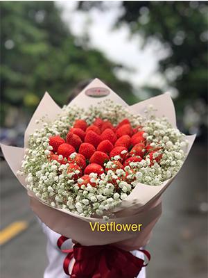 Bó hoa trái dâu - DTS1
