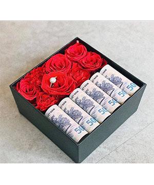 Hộp Hoa bằng tiền HT01