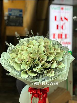 Bó hoa tiền 100k - BT100K