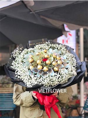 Bó hoa tiền 500k socola - BT500S
