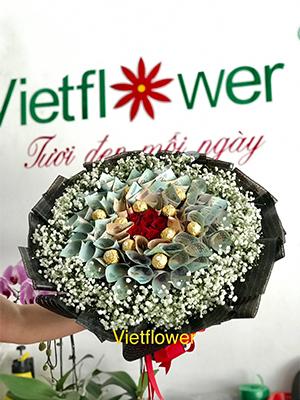 Bó hoa tiền socola - TS1