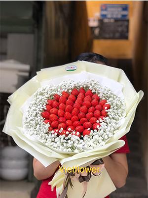 Hoa dâu tây sang trọng- DTS09