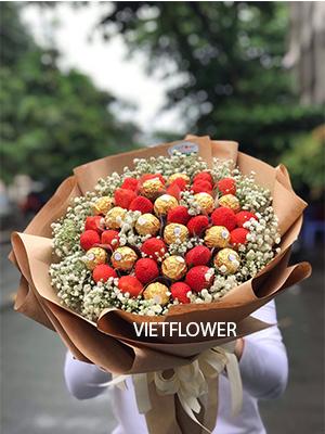 Hoa dâu tây và socola - DTS99