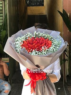hoa dâu tây DT031