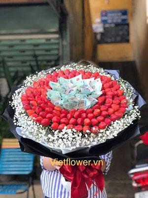 Bó hoa dâu và tiền HBT002