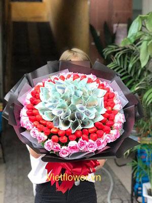 Bó hoa tiền HBT003