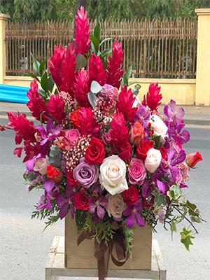 Hộp hoa tươi - VFH001