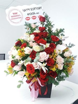 Hộp hoa hồng VFHH004