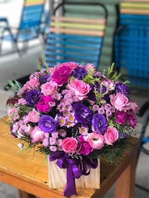 Hộp hoa tím VHT008